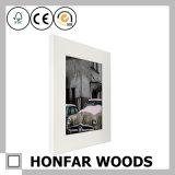 Cadre de tableau en bois blanc moulant pour la décoration d'hôtel