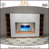 N u. L populärer Lack-hoher Glanz MDF-Fernsehapparat-Standplatz