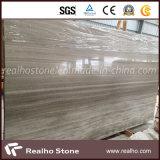 高品質の床タイルが付いている磨かれたホワイトオークの木の静脈の大理石