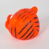 Giocattolo stridulo dell'animale domestico del giocattolo del vinile del cane di figura della tigre