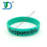 Wristbands segmentati verde blu arancioni del silicone