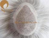 Toupee do cabelo humano de Remy da alta qualidade de 100% para o homem idoso