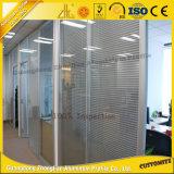La plupart de panneau de mur en aluminium populaire de profil de partition pour le guichet en aluminium