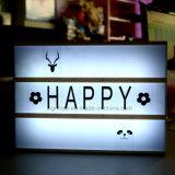 文字が付いているライトボックスを広告する装飾的なLED