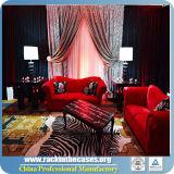 A tubulação vermelha redonda luxuosa e drapeja para o melhor preço das decorações ocidentais do casamento