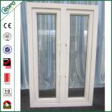 Parte externa aberta personalizada do indicador branco do Casement do PVC com faixa dobro