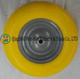4.00-8/400-8 Rotelle variopinte verniciate della gomma piuma dell'unità di elaborazione dell'orlo del metallo
