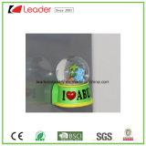 Polyresin modificó el imán del refrigerador para requisitos particulares con la bola de nieve para la decoración casera