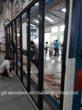 Porte de pliage en aluminium d'interruption thermique chaude de vendeur de Woodwin avec la double glace de Temperd