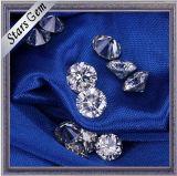 Colore bianco 6.5mm di figura rotonda 1 diamante brillante di Moissanite del taglio di carati