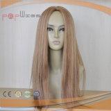 100%年のブラウンカラー完全なモノラルHandtied PUの端様式の一等級のRemyのバージンの毛の女性の上層のToupee (PPG-l-0788)