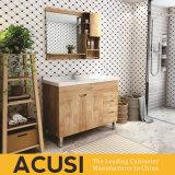 高品質熱い販売の簡単な様式の純木の浴室の虚栄心の浴室用キャビネットの浴室の家具(ACS1-W29)