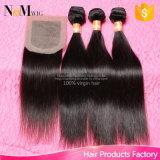 Brasilianisches gerades Haar-Silk niedriges Schliessen mit Bündel-dem brasilianischen Jungfrau-Haar mit dem Schliessen Facebeauty Haar mit Schliessen-Bündeln