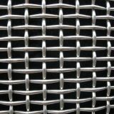 ひだを付けられた金網か編まれた金網またはひだを付けられた網