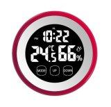 Temporizador de Digitas da tela de toque da forma redonda com temperatura e umidade