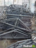 Zapatas del arrabio usadas en los carros de la carga