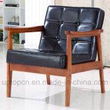 유행 나무로 되는 가죽 로비 팔걸이 백색 편리한 의자 (SP-EC729)