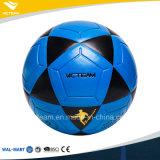 Balón de fútbol laminado al por mayor azul al aire libre del balompié de la dimensión de una variable de la estrella
