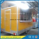 Carro móvil móvil del acoplado del abastecimiento de la venta caliente/del alimento del restaurante móvil