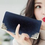 新しいLong Wallet Golden Stone女性韓国の方法女性の札入れの財布の傾向