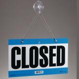 Signe ouvert-fermé s'arrêtant de porte de système acrylique, plaque acrylique de porte