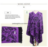 Écharpe molle de vente de type chaud de Madame Fashion Pashmina Shawl Ethnic