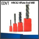 Edvt CNC 62HRC 4flute 텅스텐 강철 끝 선반 절단 도구