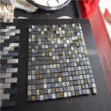 Azulejos decorativos del suelo y de la pared, azulejos de mosaico de cristal de la piedra de la mezcla, mosaico de cristal