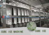 Große Kapazitäts-Würfel-Eis-Maschine mit Material des Edelstahl-304