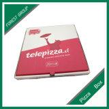 Caixa feita sob encomenda ondulada da pizza do papel de embalagem de produto comestível