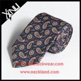 Os homens formam o laço tecido da garganta de 100% seda Handmade magro