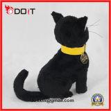 Chat doux farci Mignon noir Peluches Jouets chat