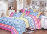印刷されたパターン多女王はベッドカバーのパッチワークの寝具セットに合った