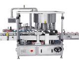 Botella automático de comida cosmético lateral doble Etiqueta Máquina de etiquetado