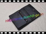 Multifunktionslederner schwarze Mann-Großhandelsbeutel mit beweglicher Münzen-Tasche
