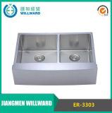 Agriturismo Er-3303 a mano in acciaio inox Kitchen Sink