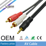 Cavi del cavo di alta velocità 3.5mm 2RCA avoirdupois di Sipu audio video