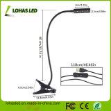 3W lo spettro completo LED coltiva il nuovo USB che chiaro di disegno la lampada flessibile della Tabella con la clip LED si sviluppa chiara per la crescita delle piante