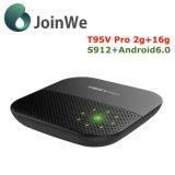 T95V PRO Google Android 6.0 Boîte TV Internet Amlogic S912 Ott TV Box