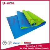 Beschaffenheits-Doppelfarben-Yoga-Zubehör Belüftung-Yoga-Matte Pilates Matte