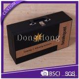 Casella di cuoio su ordinazione timbrata marchio resa personale per l'imballaggio del regalo