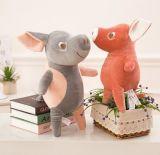 만화 돼지 박제 동물 견면 벨벳 장난감