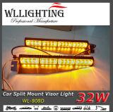 32W LED (호박색) 선형 챙 경고등 바