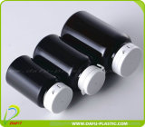 Pet Black Plastic Bottle com Tearing Cap
