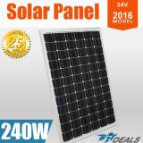 pile solaire monocristalline 240W d'énergie solaire du panneau solaire 24V