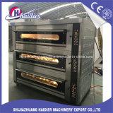 Forno elétrico da plataforma do equipamento da padaria 3 camadas com vapor