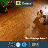8,3 mm en relieve de arce con ranura en V encerado afiló piso laminado
