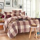 寮部屋のための3 PCSの綿の緑の寝具