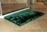 빛나는 셔닐 실 반대로 미끄러짐 기초를 가진 긴 더미 목욕탕 문 매트