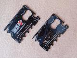 定規が付いている多機能の金属のカードの栓抜き